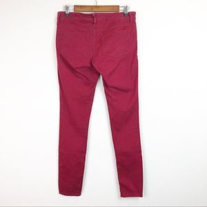Express Jeans - Express Red Low-Rise Skinny Jeans